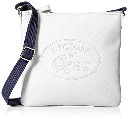 Lacoste Flat Crossover Bag, Nf2420wm, White Peacoat