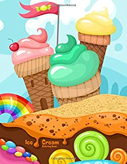 Amazon.com: Ice Cream Coloring Book (9781533197252): Kensington ...