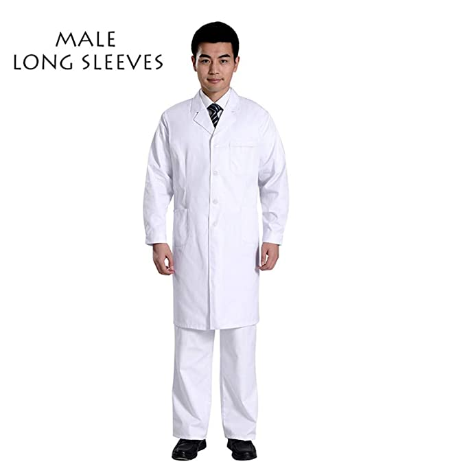 ESENHUANG Surgicall Uniformes Médicos Hospital Lab Coat Hombres Mujeres Doctor Scrub Médico Ropa Uniforme Transpirable Ropa De Trabajo Blusas: Amazon.es: ...