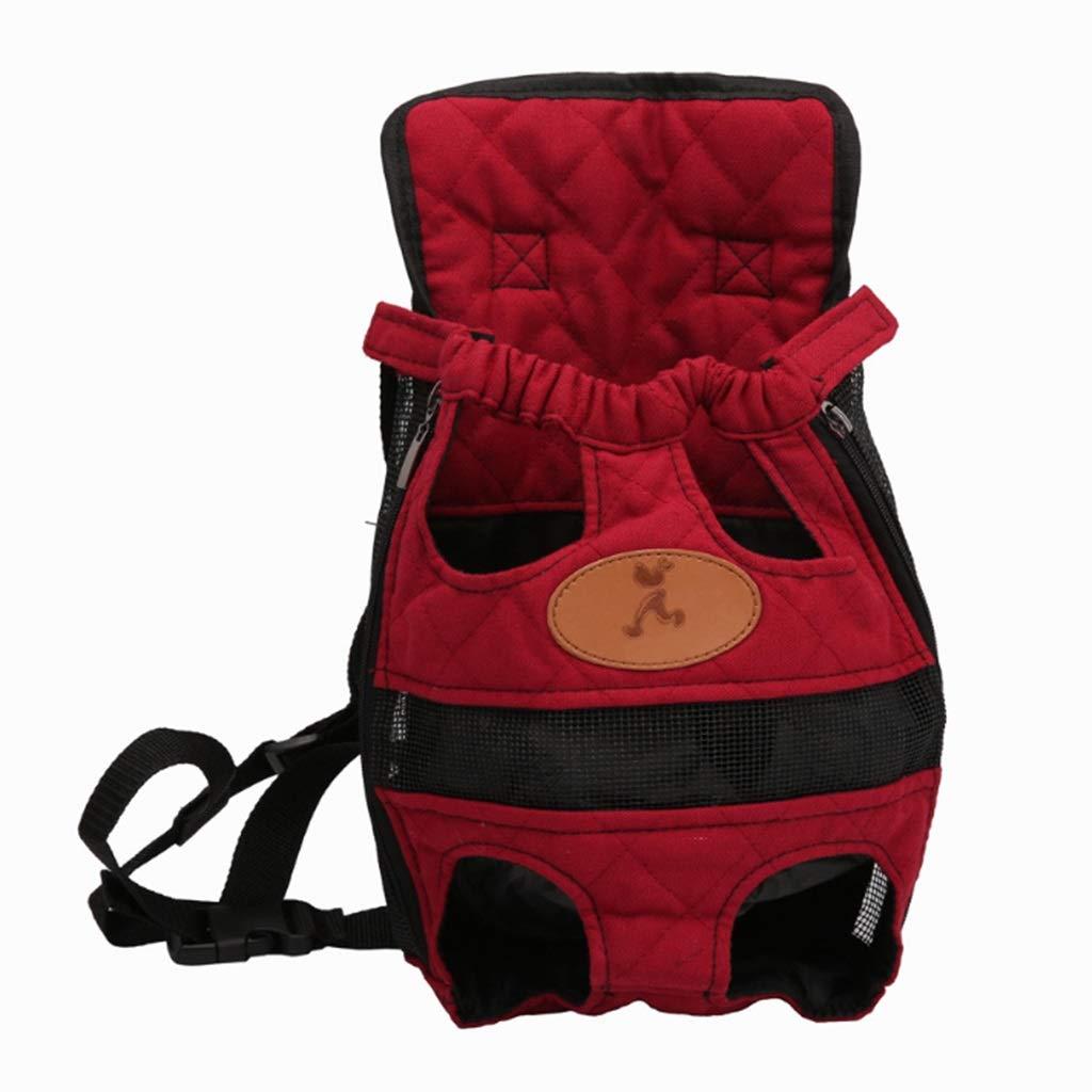 4124cm Pet Supplies Pet Bag Breathable Travel Pet Shoulder Chest Bag Pet Out Shoulder Bag Dog Backpack (Size   41  24cm)