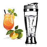 Home I Home Electric Cocktail Shaker Bottle,Battery Powered,450ml/14oz--Automatic Mixer for Cocktail Coffees,Juice,Tea,Protein Stirring