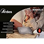 Ardes-AR078-Manolo-Scaldino-Elettrico-Forma-di-Cuscinetto-Pile-Morbido-Grigio-19-x-265-x-65-cm