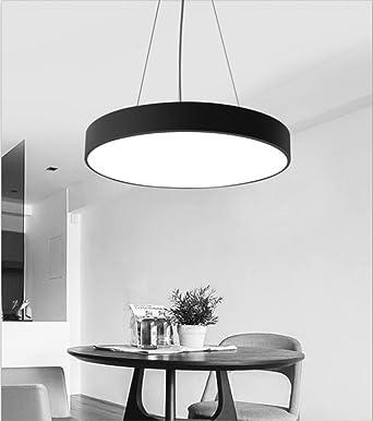 GUOQ Modern Stil Einfache Eisen Pendelleuchte Kreative Runde ...