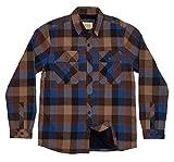 Boston Traders Men's Plush-Lined Flannel Shirt Jacket, X-Large, Shiitake
