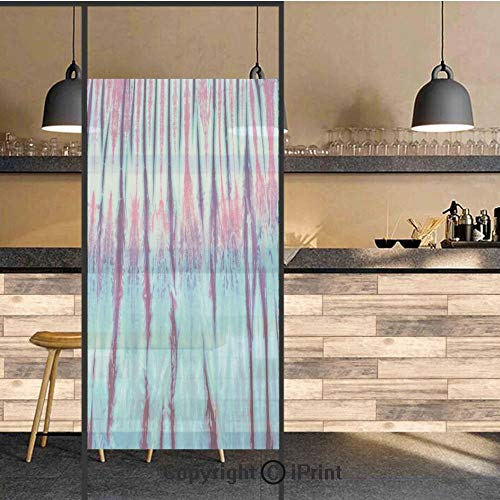 3D Decorative Privacy Window Films,Close Up Vertical Gradient Tie Dye Figures Hippie Alter Life Retro Artwork,No-Glue Self Static Cling Glass Film for Home Bedroom Bathroom Kitchen Office 24x48 Inch