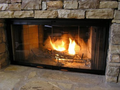 Heatilator Fireplace Doors - Black 36'' Series Glass Doors - DM1036 by Heatilator