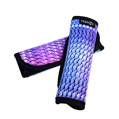 0374dd182a95 COSMOS Pack of 2 Neoprene Luggage Handle Wrap / Handle Grip / Luggage  Identifier for Travel Bag Luggage Suitcase (Blending Scale Pattern)