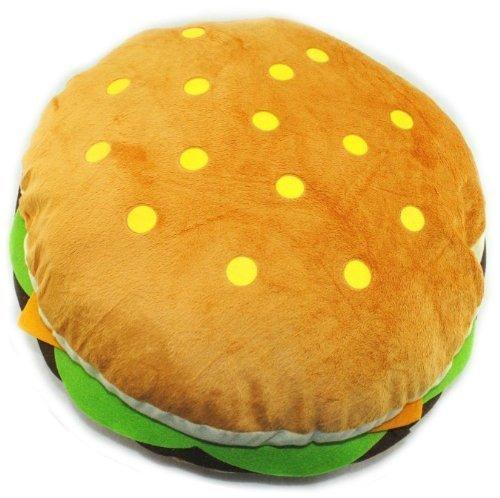 Dr.Luck Lovely Plush Stuffed Huge Hamburger Throw Pillow/ Toy (Plush Pillow Pizza)