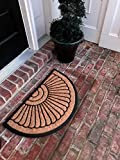 Tar Heel MarketPlace Mats Natural Coir Non Slip Half Circle Entrance Door Mat Indoor/Outdoor