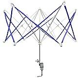 Umbrella Yarn Swift - Hand Operated Knitting Winder Tools, Wool String Ball Winder Holder Machine, Metal Hank Yarn Swift (Blue)