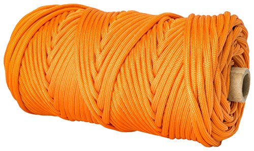 TOUGH-GRID 750lb Neon (Safety) Orange Paracord / Parachute Cord - Genuine Mil Spec Type IV 750lb Paracord Used by US Military (MIl-C-5040-H) - 100% Nylon - Made In USA. 500Ft. - Neon (Safety) Orange