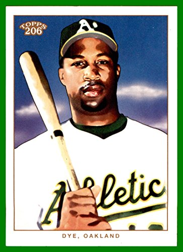 2002 Topps 206 #251B Jermaine Dye White Jersey OAKLAND A's ATHLETICS #251