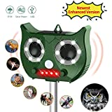 OCOOPA Ultrasonic Cat Repellent, Solar Powered Waterproof Outdoor Animal Repeller Deterrent -Activated Motion PIR Sensor and Flashing Light- Different Frequency Bands of Different Animals(Green)