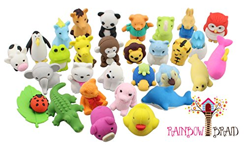 Premium-30-Animal-Collectible-Set-of-Adorable-Japanese-Style-Novelty-Erasers-From-The-Zoo-Jungle-Farm-Wild-Sea-Garden-Arctic-No-Duplicates-Puzzle-Toys-Best-for-Party-Favors