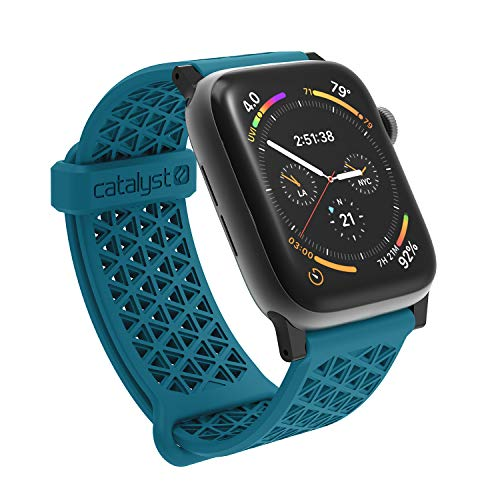 Catalyst Compatible with Apple Watch Band 42mm 44mm, Quick Release Silicone Hypoallergenic Sport Band for Apple Watch Series 4, Series 3, Series 2, Series 1, 24mm - Teal (Iphone 4 Teal Screen Replacement)