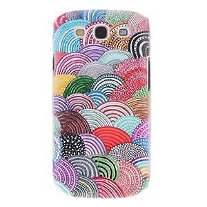 CL - Lollipop Stripes Pintura Patrón cubierta del caso plástico trasero duro para el Samsung Galaxy S3 I9300