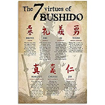The 7 Virtues Of Bushido Portrait Paper Poster Without Frame US Supplier