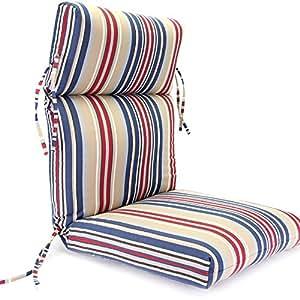 Jordan Manufacturing Outdura High Back 22 in. Dining Chair Cushion