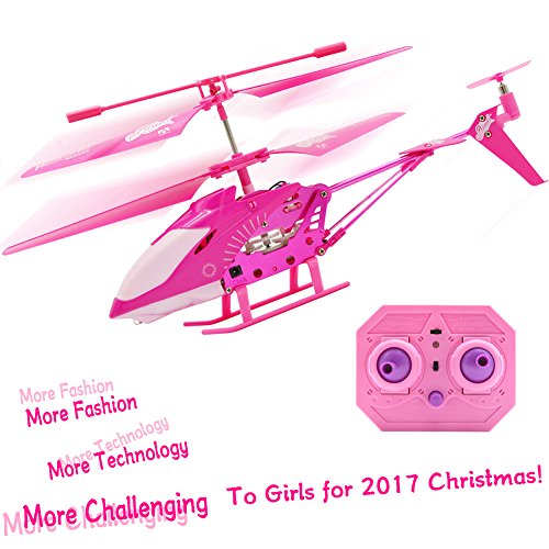 Mini 3.5 Channels Remote Radio Gyro Control Pink Helicopter Fairy Aircraft Airplane Girl Toys Best of Girl Birthday Xmas Holiday Christmas Gifts Giving Presents