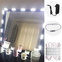 Makeup Mirror Light, 9.8FT 60 LED Vanity Mirror Lights Kits for Cosmetic Makeup Vanity Mirror with Power Supply and Touch Dimmer Switch