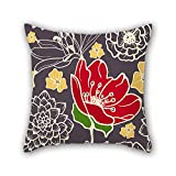 PILLO flower pillow covers 20 x 20 inches / 50 by 50 cm for bf,christmas,wife,drawing room,teens boys,bar with twin sides