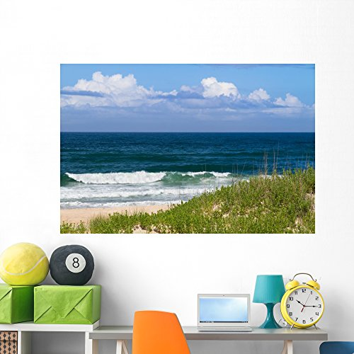Wallmonkeys Wall Decals Fot 80474678 60 Not Applicable Wallmonkeys Wm361773 Day At The Beach Peel   Stick Wall Decals  60 In W X 40 In H   60 W X 40 H   Jumbo