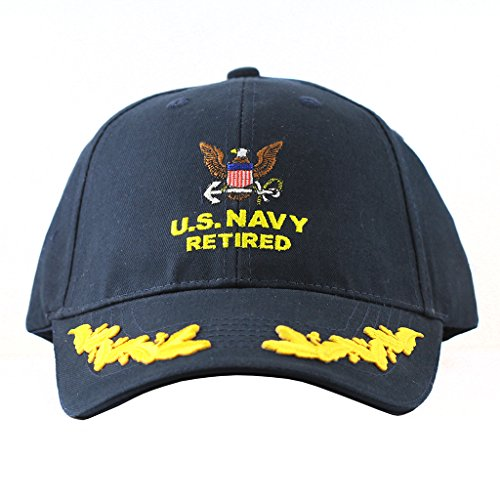 Scrambled Eggs United States Army Retired Hats Collectibles (Navy Retired Ball Cap)