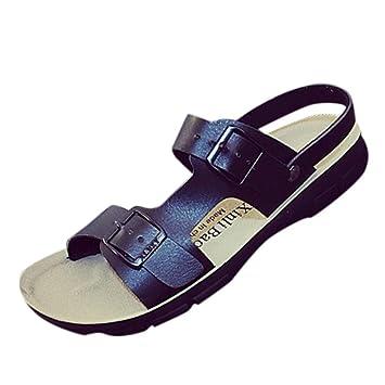 286e6aacf270f Amazon.com: ❤ Sunbona Women Flat Sandals Slippers Ladies Summer ...