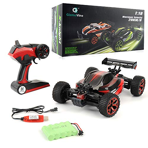 Gizmovine RC Car, 2.4 GHz High Speed 4WD Remote Control Car Large Size RC Trucks , Racing Toy Vehicle for All Adults and Kids, 2019 Version Newest (Red)
