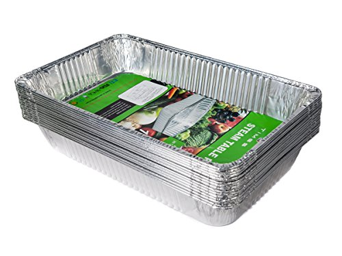 Aluminum Full Size Deep Pan ,15 Packs  Aluminum Oblong Foil Deep Pan Containers