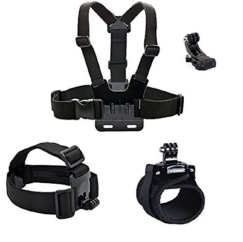 Gopro accessories Head strap Chest strap Hand band (JL) mount kit for gopro Hero 5/Session/4/3/2/HD Original Black Silver Cameras