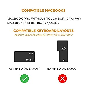 Sakura Pink Silicone MacBook Keyboard Cover for New Pro 13 inch No Touch Bar A1708 (2016/2017 Released) and MacBook Pro Retina 12 inch Keyboard Protector A1534, Ultra Soft and Backlight
