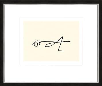 Grashüpfer Bild Poster gerahmt artissimo Kunstdruck mit Rahmen 63x53cm Picasso