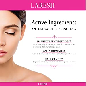 LARESH Eyelash & Eyebrow Growth Serum - Advanced Formula- Promotes Thicker, Longer, Fuller Eyelashes & Eyebrows in 60 days - Paraben Free, FDA Certified, Dermatologist Tested.
