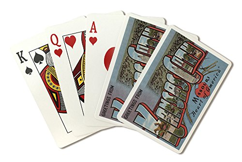 (Greetings from Kansas City, Missouri (Heart) (Playing Card Deck - 52 Card Poker Size with)
