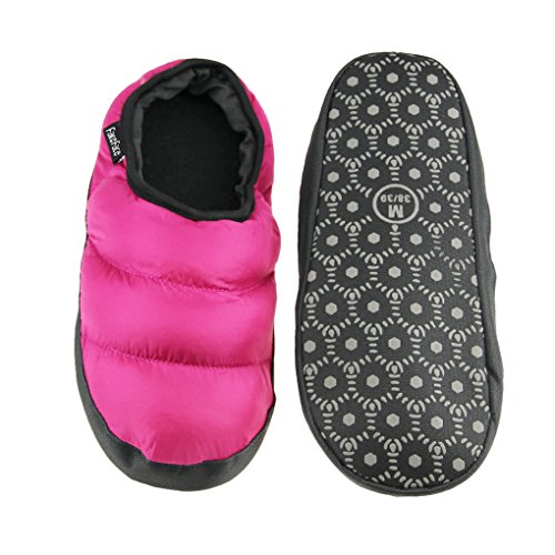 Lightweight Mules Slip Lining Winter Womens Non Warm Indoor Slippers Rose Slippers Bedroom Snow Waterproof Quilted slip Fleece Red Cozy Thermal on Clog Booties Down Ankle House Shoes Boots Unisex Mens Socks qx4pw16P6