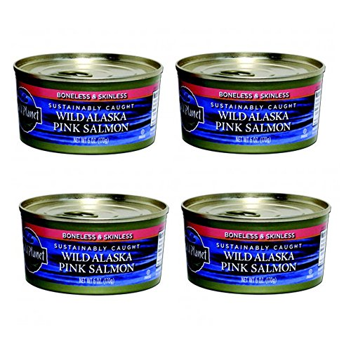 WILD PLANET > Wild Alaskan Pink Salmon [ 6 Ounce Each, 4 Pack ] 100% Poll or Troll Caught, Non GMO, Gluten Free!