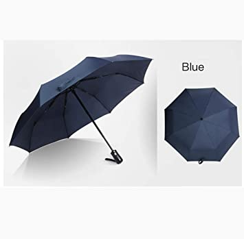 Hongge Paraguas automático Paraguas por ciento Super Plegable Paraguas Creativo los Hombres y Las Mujeres Paraguas