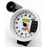 JEGS Performance Products 41262 5'' Tachometer White 0-10,000 RPM