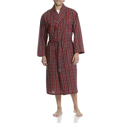 - Hanes Men's Big-Tall Woven Shawl Collar Robe Red Plaid (3X-4X Plus, Red)