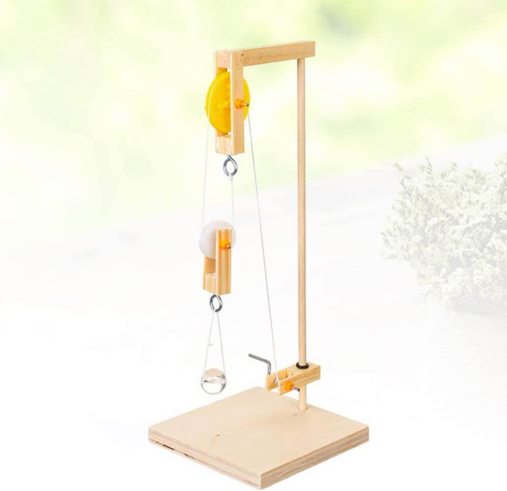 Toyvian Pulley Model Science Experiment Model Building Kits Manual Crane Toy DIY Crane Making Material for Kids Children Students Christmas Gift