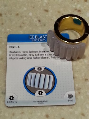 Marvel Heroclix Invincible Iron Man Ice Blast RING 3D Object Relic