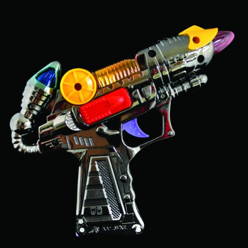 Light Up Toy Silver Ray Gun
