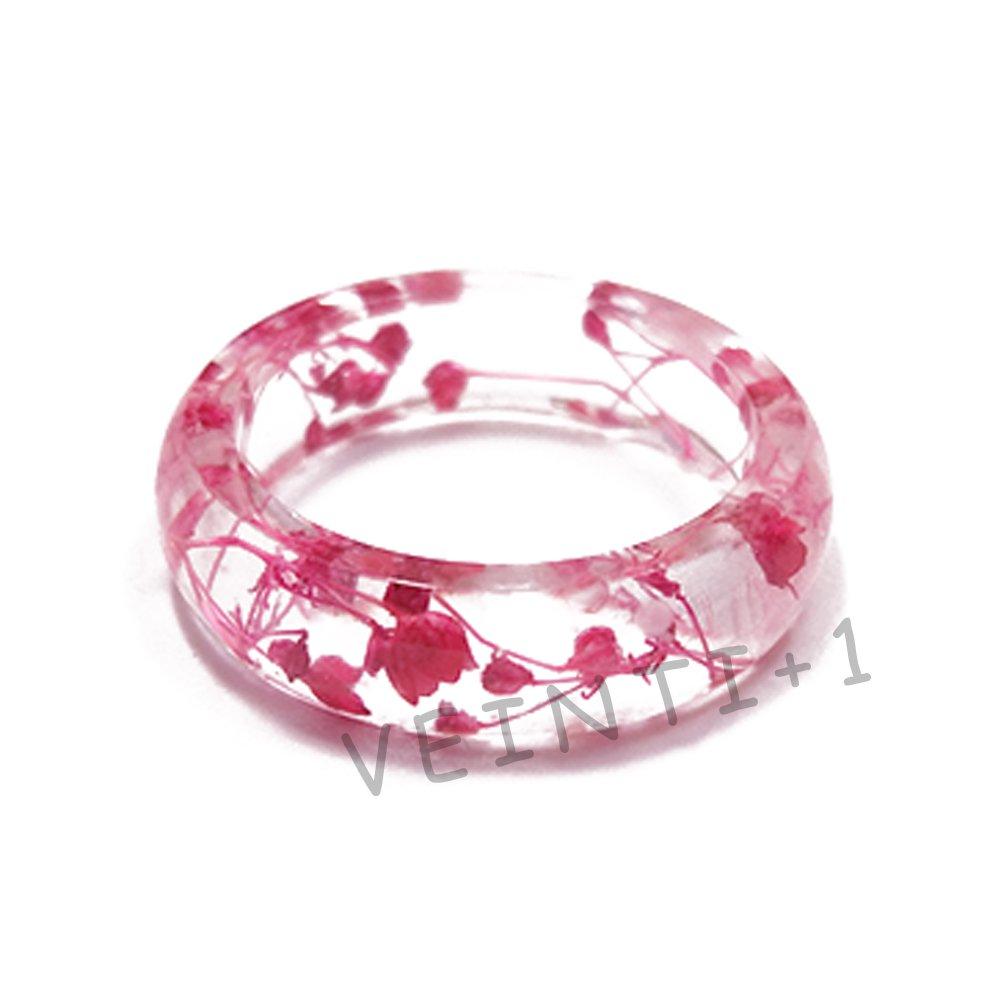 Amazon.com: VEINTI+1 Original Design Rose Red Color Babysbreath ...