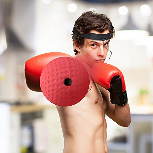 Boxing Reflex Ball - Boxing Equipment, Adjustable Head Band, Gloves, Extra String, Instruction and Repair Guide Included - Perfect For Reflex/Speed Training Improve Reactions for Kids Aswell by Punch King (Image #6)