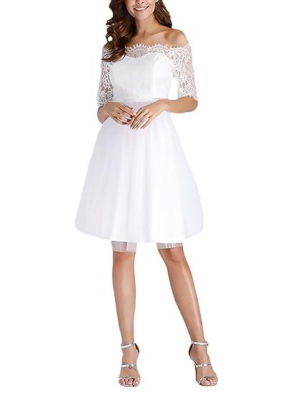 e5bf9c5de028 Donna Abito Da Sposa Estive Pizzo Corti Paillettes Elegante Vestiti Giovane  Grazioso Vintage Manica 3