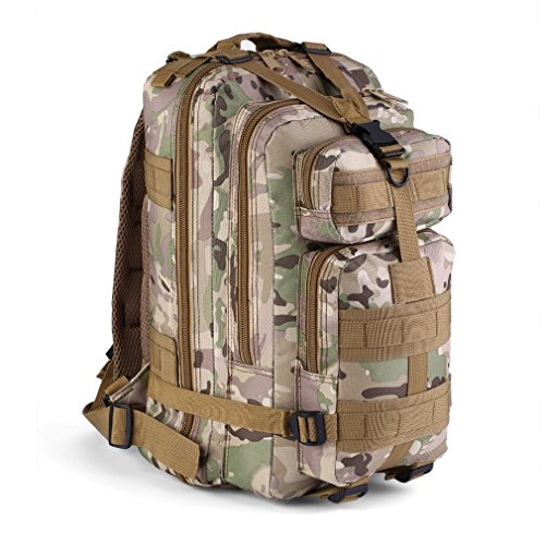 SUGARHOST Breathable Mesh Backing Unisex 600D Nylon30L Military Tactical Backpack Molle Rucksacks Camping Hiking Trekking Bag