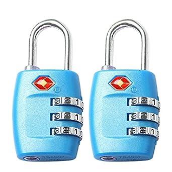 FST TSA Lock equipaje cerraduras para viaje 3 dígitos combinación All Metal TSA Aprobado cierre 2