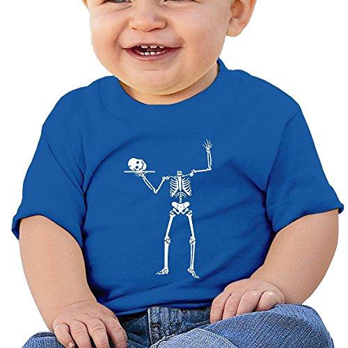 Halloween Skeleton 6 - 24 Months Baby T-shirts Round Neck Shirt RoyalBlue 6 M (Halloween Horror Nights 24 T Shirts)