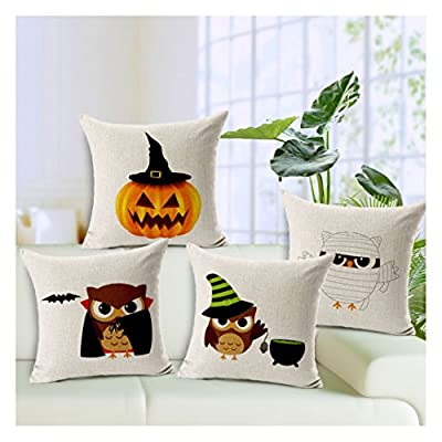 Yo-You Halloween Scheme Decorative Pillowcase 18x18 Throw Pillow Cover